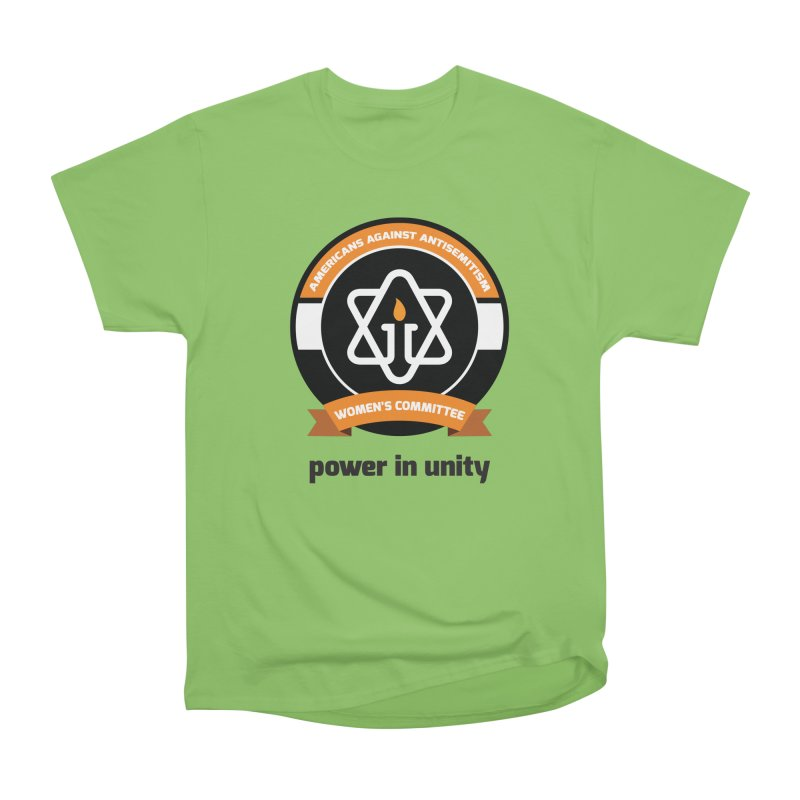Women's Committee of Americans Against Antisemitism Women's Heavyweight Unisex T-Shirt by Americans Against Antisemitism's Artist Shop