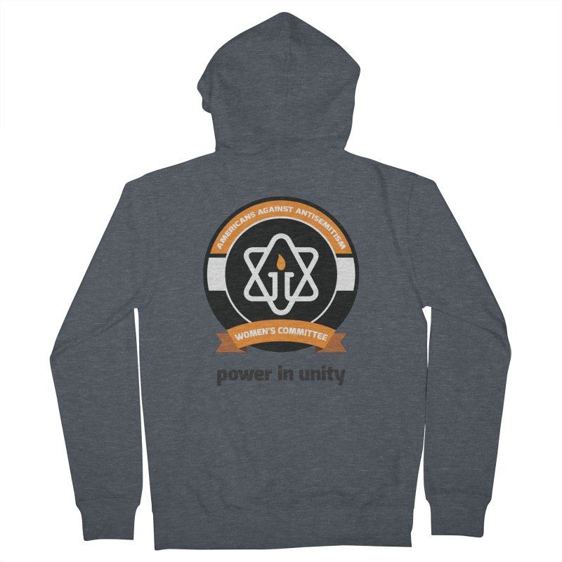 Women's Committee of Americans Against Antisemitism Women's French Terry Zip-Up Hoody by Americans Against Antisemitism's Artist Shop