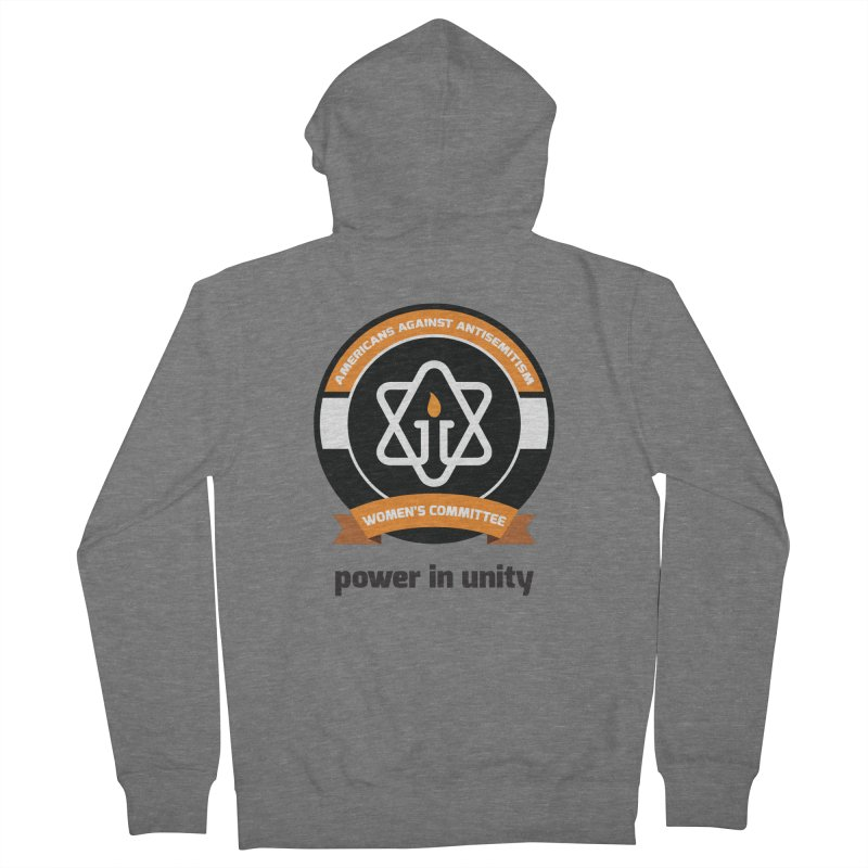 Women's Committee of Americans Against Antisemitism Men's French Terry Zip-Up Hoody by Americans Against Antisemitism's Artist Shop