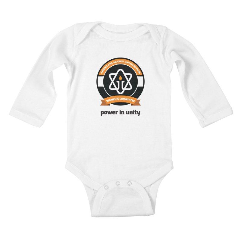 Women's Committee of Americans Against Antisemitism Kids Baby Longsleeve Bodysuit by Americans Against Antisemitism's Artist Shop