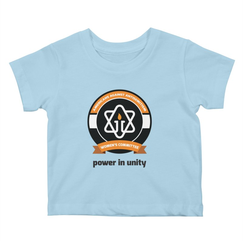 Women's Committee of Americans Against Antisemitism Kids Baby T-Shirt by Americans Against Antisemitism's Artist Shop