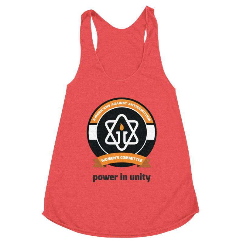 Women's Committee of Americans Against Antisemitism Women's Racerback Triblend Tank by Americans Against Antisemitism's Artist Shop