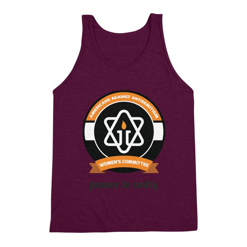 Women's Committee of Americans Against Antisemitism Men's Triblend Tank by Americans Against Antisemitism's Artist Shop