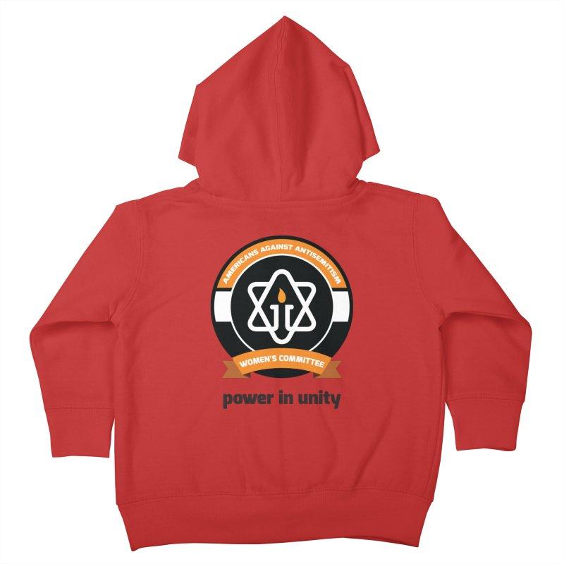 Women's Committee of Americans Against Antisemitism Kids Toddler Zip-Up Hoody by Americans Against Antisemitism's Artist Shop