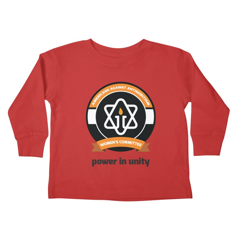 Women's Committee of Americans Against Antisemitism Kids Toddler Longsleeve T-Shirt by Americans Against Antisemitism's Artist Shop
