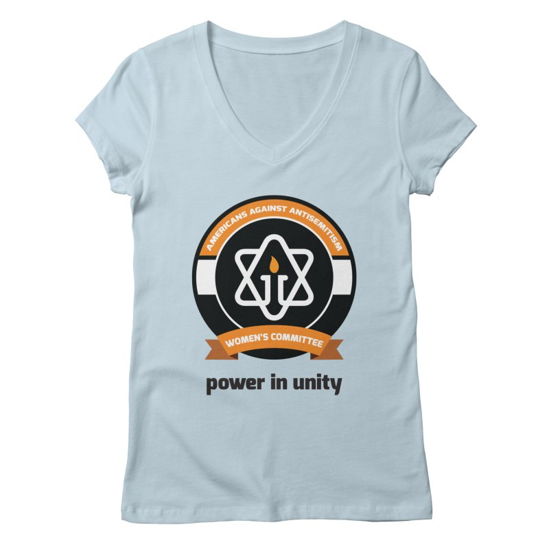 Women's Committee of Americans Against Antisemitism Women's V-Neck by Americans Against Antisemitism's Artist Shop