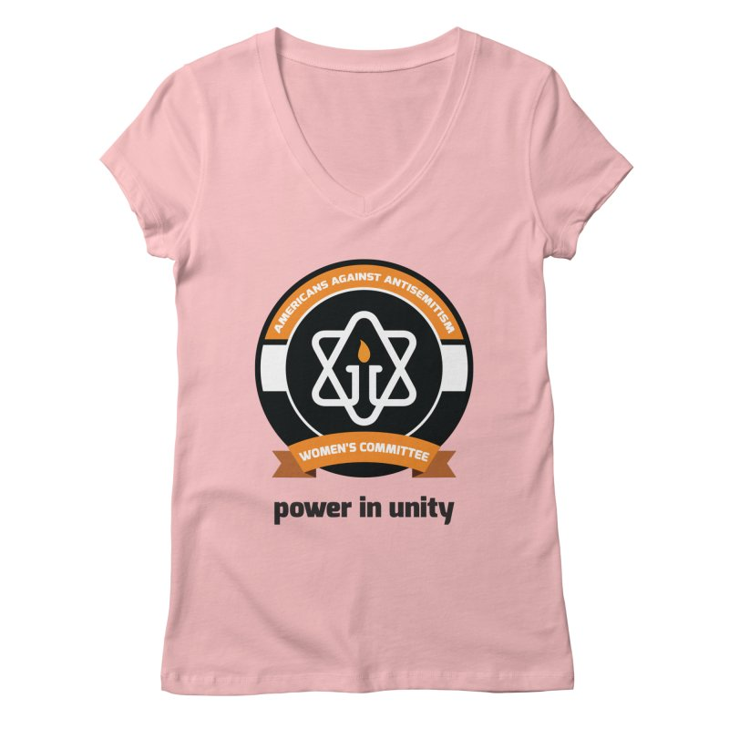 Women's Committee of Americans Against Antisemitism Women's Regular V-Neck by Americans Against Antisemitism's Artist Shop