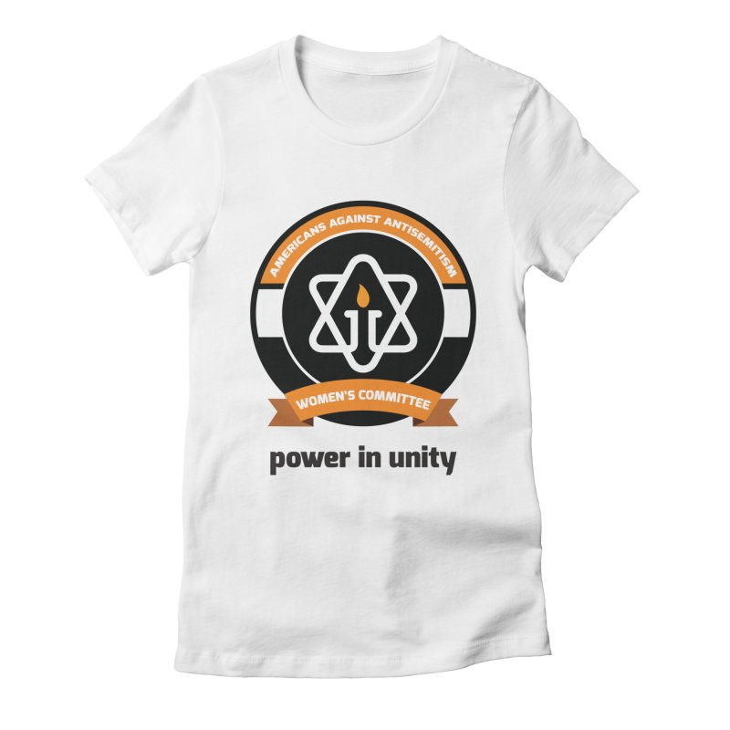 Women's Committee of Americans Against Antisemitism Women's Fitted T-Shirt by Americans Against Antisemitism's Artist Shop
