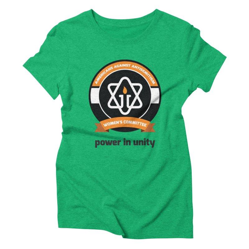 Women's Committee of Americans Against Antisemitism Women's Triblend T-Shirt by Americans Against Antisemitism's Artist Shop
