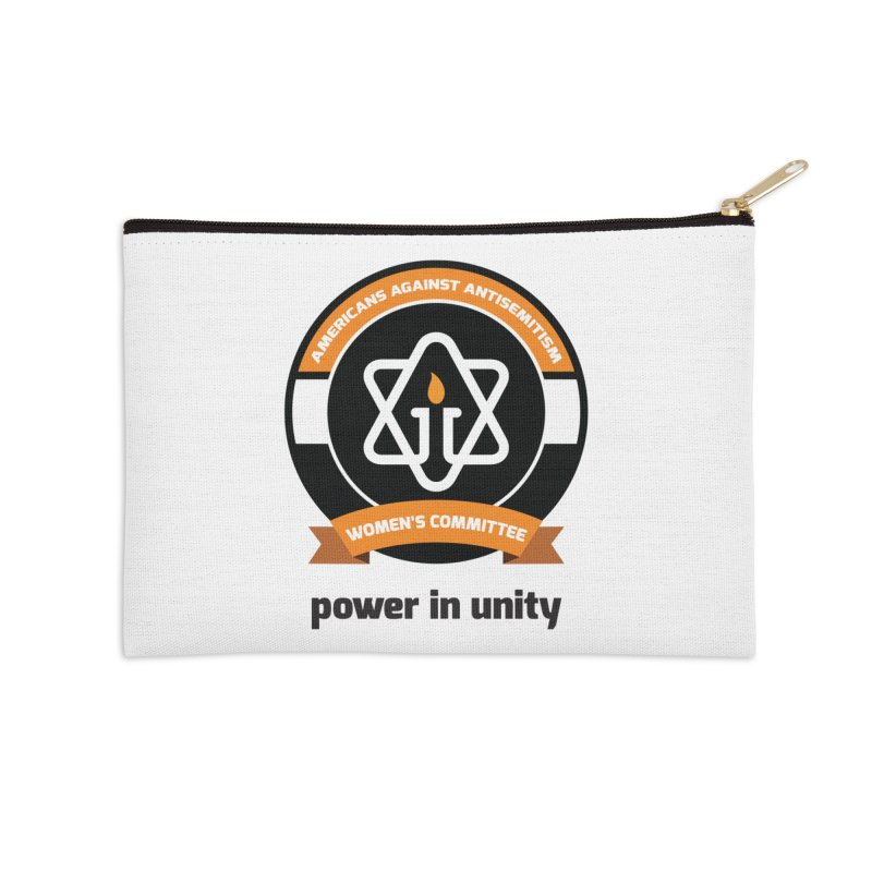 Women's Committee of Americans Against Antisemitism Accessories Zip Pouch by Americans Against Antisemitism's Artist Shop