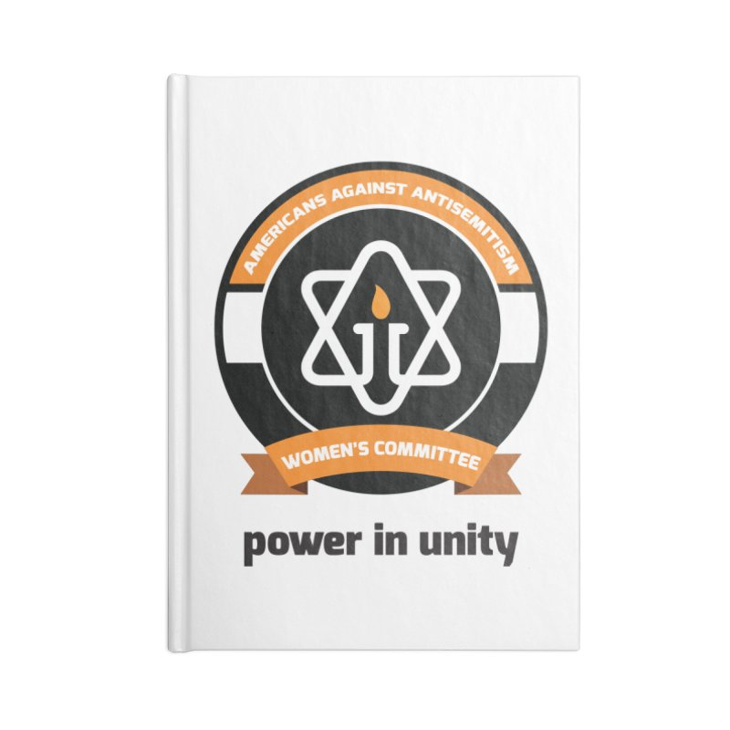 Women's Committee of Americans Against Antisemitism Accessories Lined Journal Notebook by Americans Against Antisemitism's Artist Shop