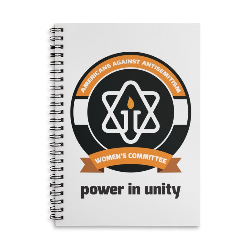 Women's Committee of Americans Against Antisemitism Accessories Lined Spiral Notebook by Americans Against Antisemitism's Artist Shop