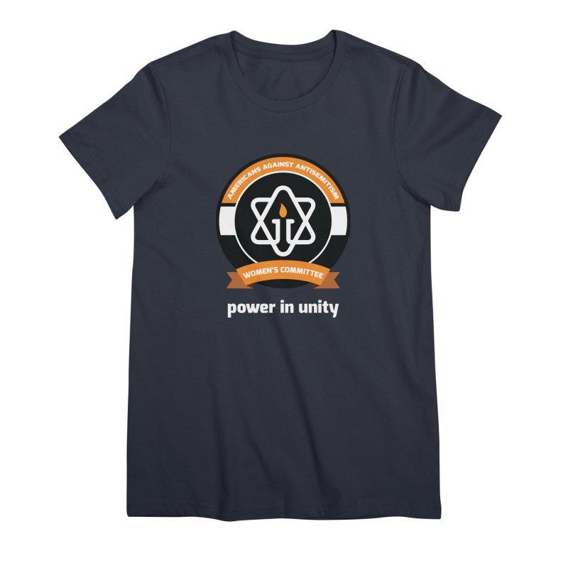 Women's Committee of Americans Against Antisemitism - Dark Background Women's Premium T-Shirt by Americans Against Antisemitism's Artist Shop