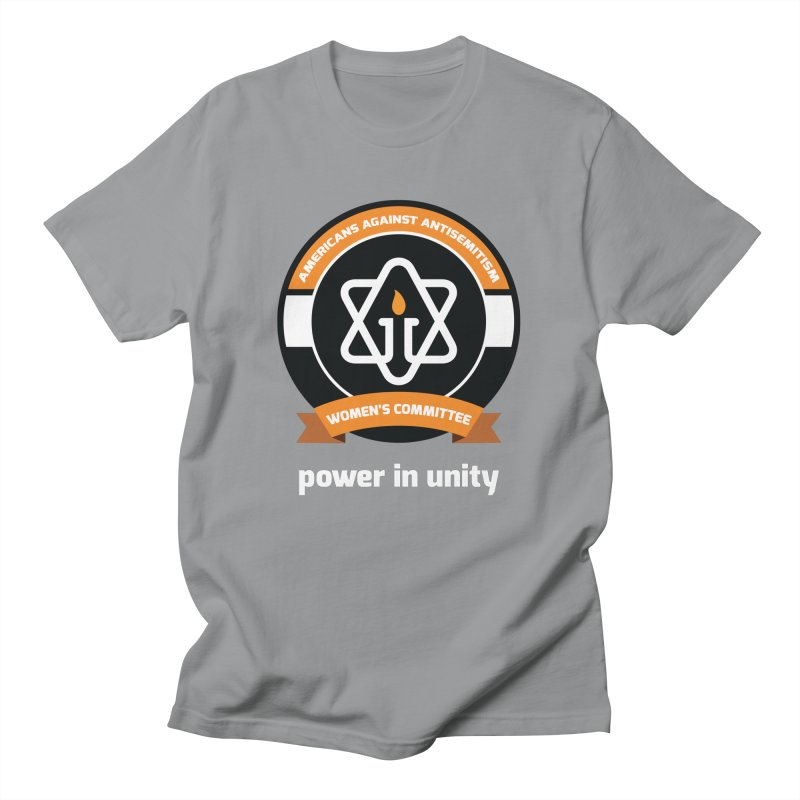 Women's Committee of Americans Against Antisemitism - Dark Background Men's T-Shirt by Americans Against Antisemitism's Artist Shop