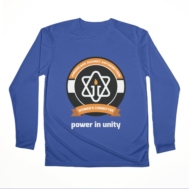 Women's Committee of Americans Against Antisemitism - Dark Background Men's Performance Longsleeve T-Shirt by Americans Against Antisemitism's Artist Shop