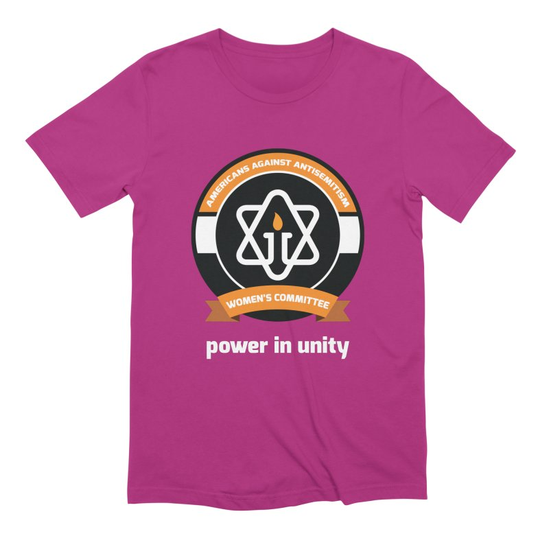Women's Committee of Americans Against Antisemitism - Dark Background Men's Extra Soft T-Shirt by Americans Against Antisemitism's Artist Shop