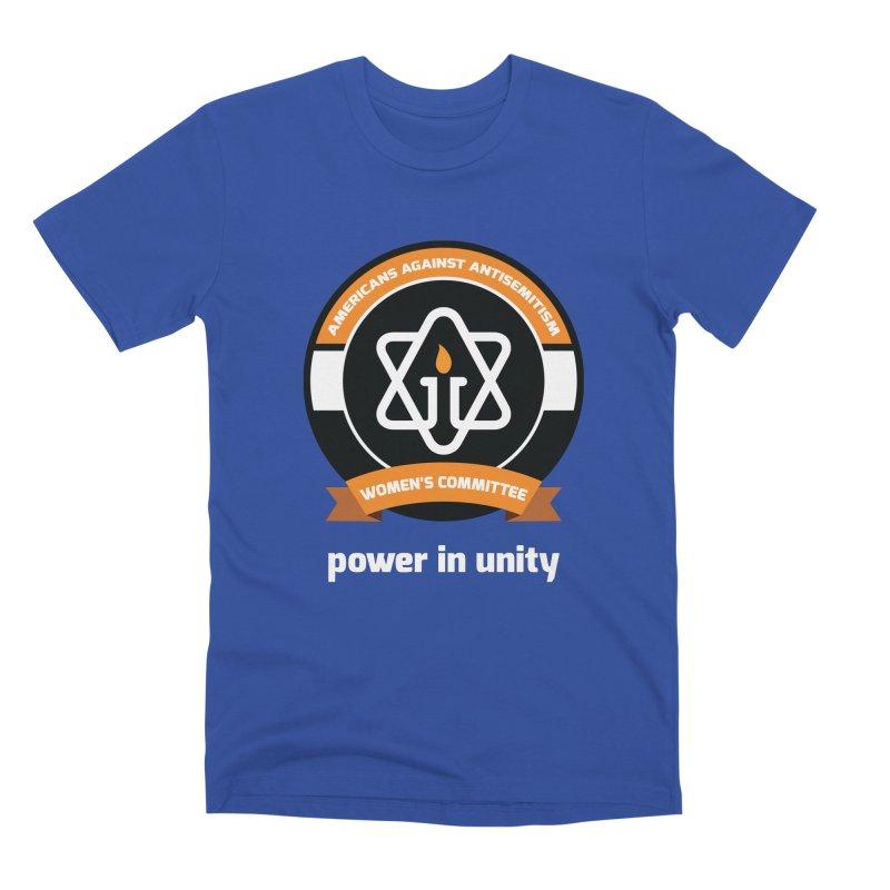 Women's Committee of Americans Against Antisemitism - Dark Background Men's Premium T-Shirt by Americans Against Antisemitism's Artist Shop