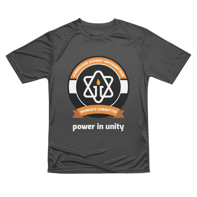Women's Committee of Americans Against Antisemitism - Dark Background Men's Performance T-Shirt by Americans Against Antisemitism's Artist Shop