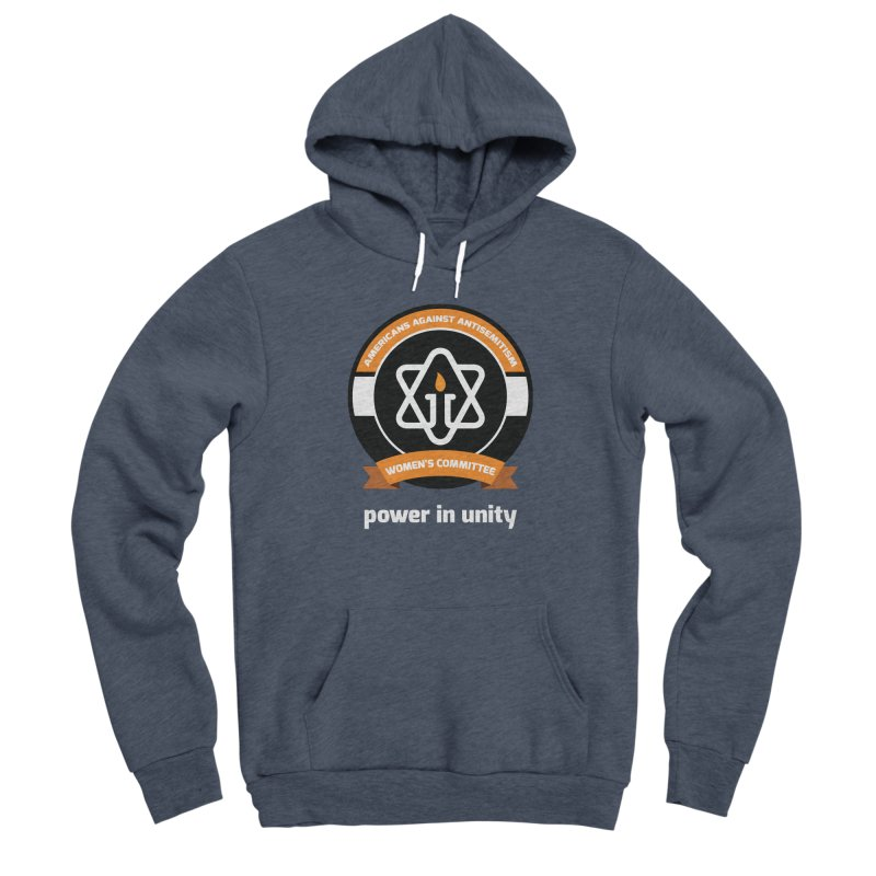 Women's Committee of Americans Against Antisemitism - Dark Background Women's Sponge Fleece Pullover Hoody by Americans Against Antisemitism's Artist Shop