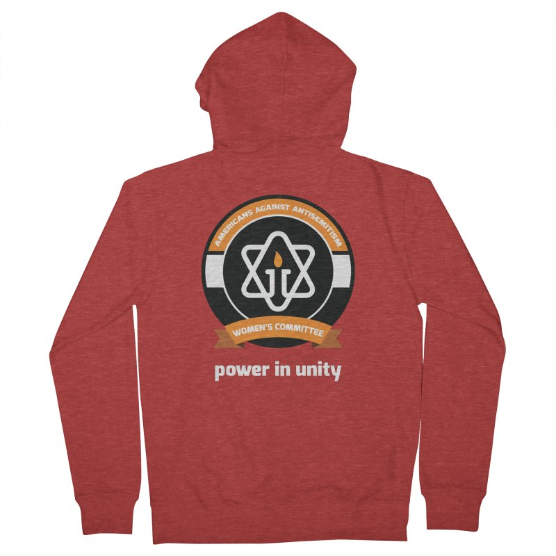 Women's Committee of Americans Against Antisemitism - Dark Background Women's French Terry Zip-Up Hoody by Americans Against Antisemitism's Artist Shop