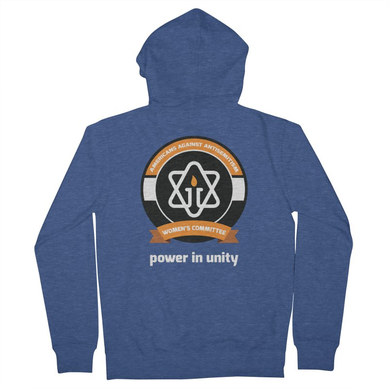 Women's Committee of Americans Against Antisemitism - Dark Background Men's French Terry Zip-Up Hoody by Americans Against Antisemitism's Artist Shop