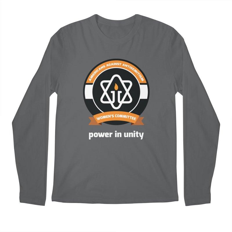Women's Committee of Americans Against Antisemitism - Dark Background Men's Longsleeve T-Shirt by Americans Against Antisemitism's Artist Shop