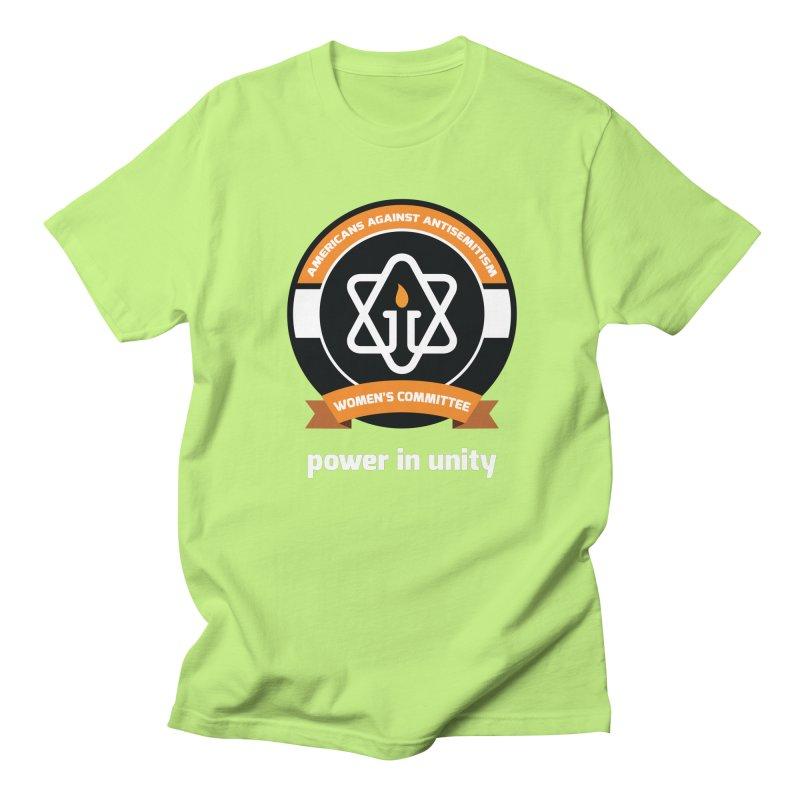 Women's Committee of Americans Against Antisemitism - Dark Background Men's Regular T-Shirt by Americans Against Antisemitism's Artist Shop
