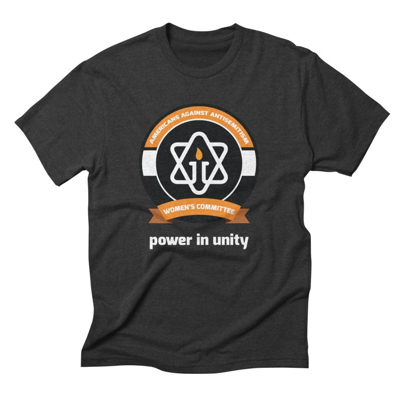 Women's Committee of Americans Against Antisemitism - Dark Background Men's Triblend T-Shirt by Americans Against Antisemitism's Artist Shop