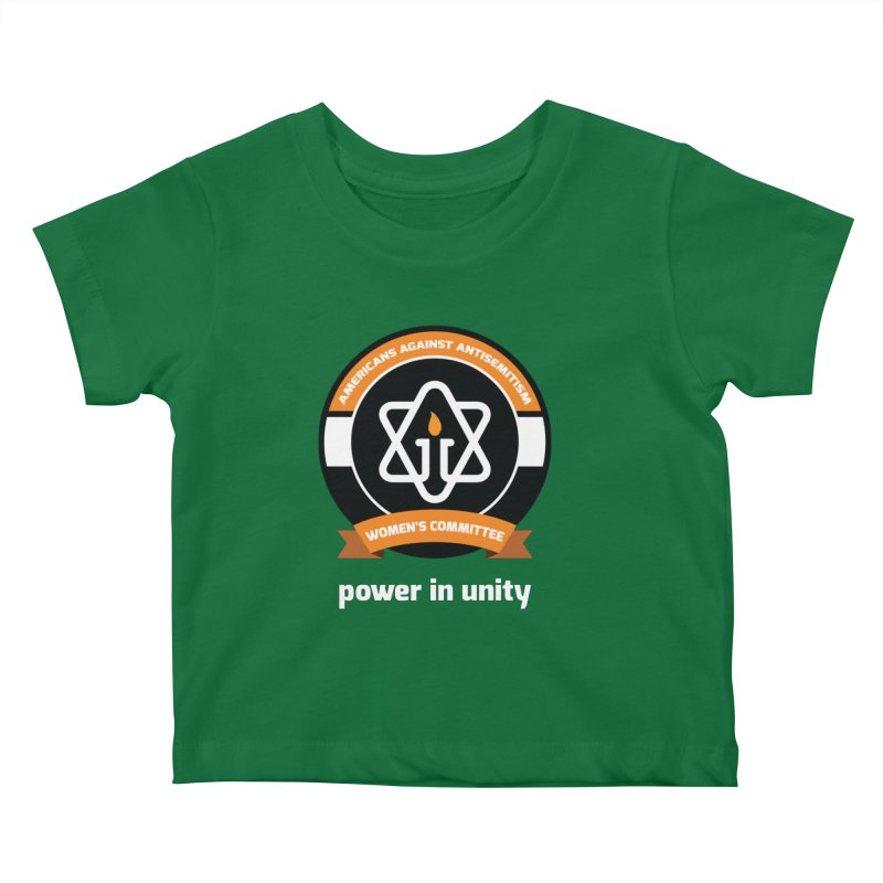Women's Committee of Americans Against Antisemitism - Dark Background Kids Baby T-Shirt by Americans Against Antisemitism's Artist Shop