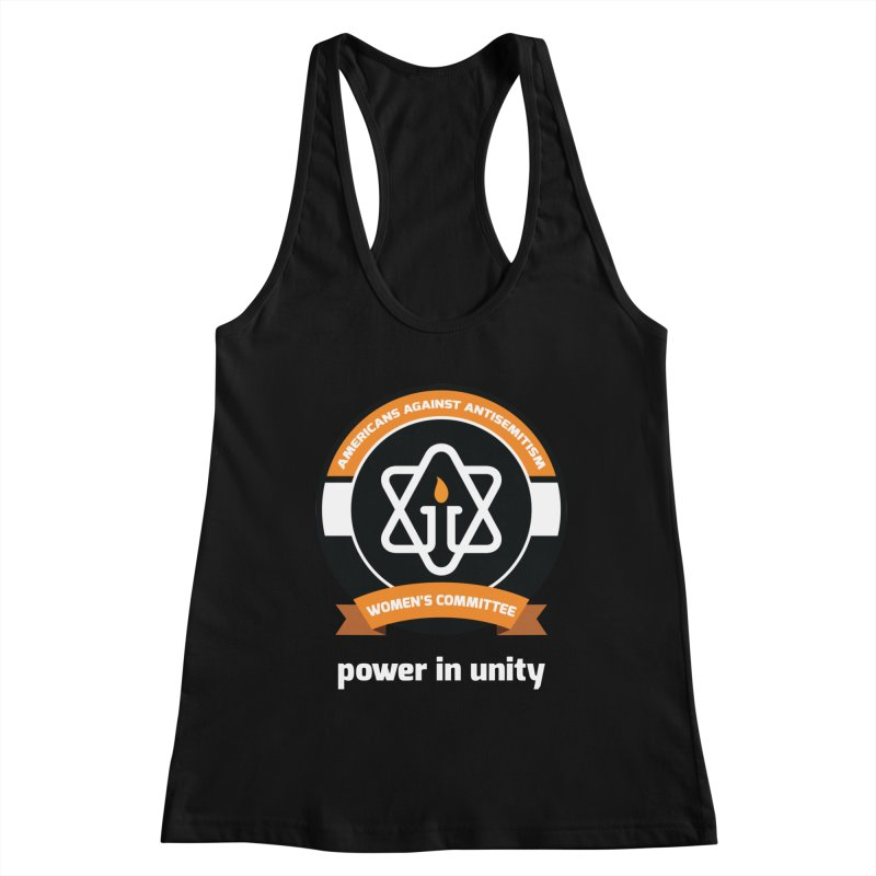 Women's Committee of Americans Against Antisemitism - Dark Background Women's Racerback Tank by Americans Against Antisemitism's Artist Shop