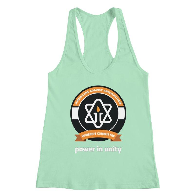 Women's Committee of Americans Against Antisemitism - Dark Background Women's Racerback Tank by Americans Against Antisemitism's Artist Shop