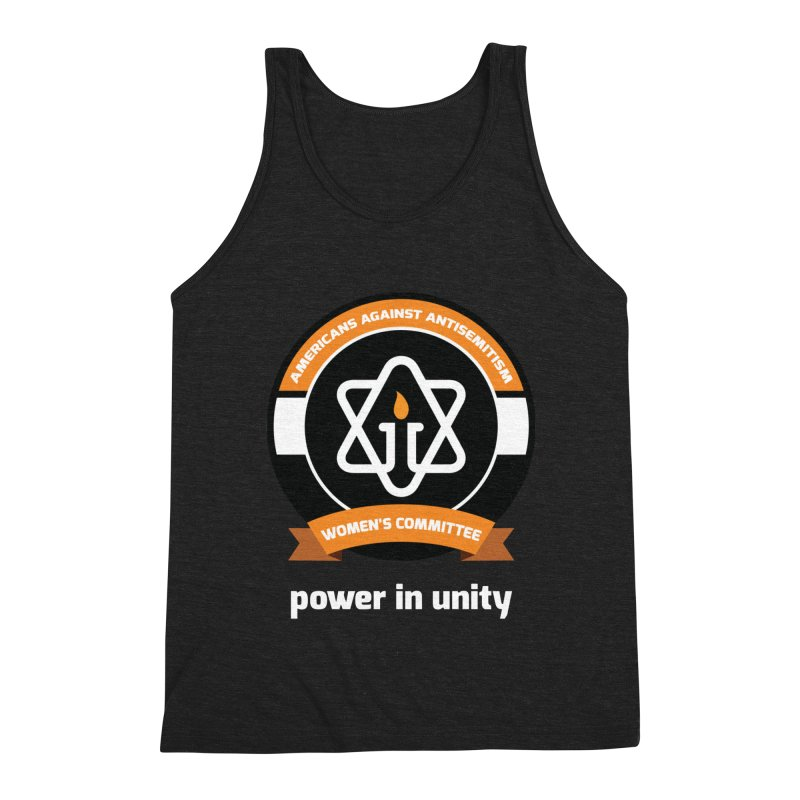 Women's Committee of Americans Against Antisemitism - Dark Background Men's Triblend Tank by Americans Against Antisemitism's Artist Shop