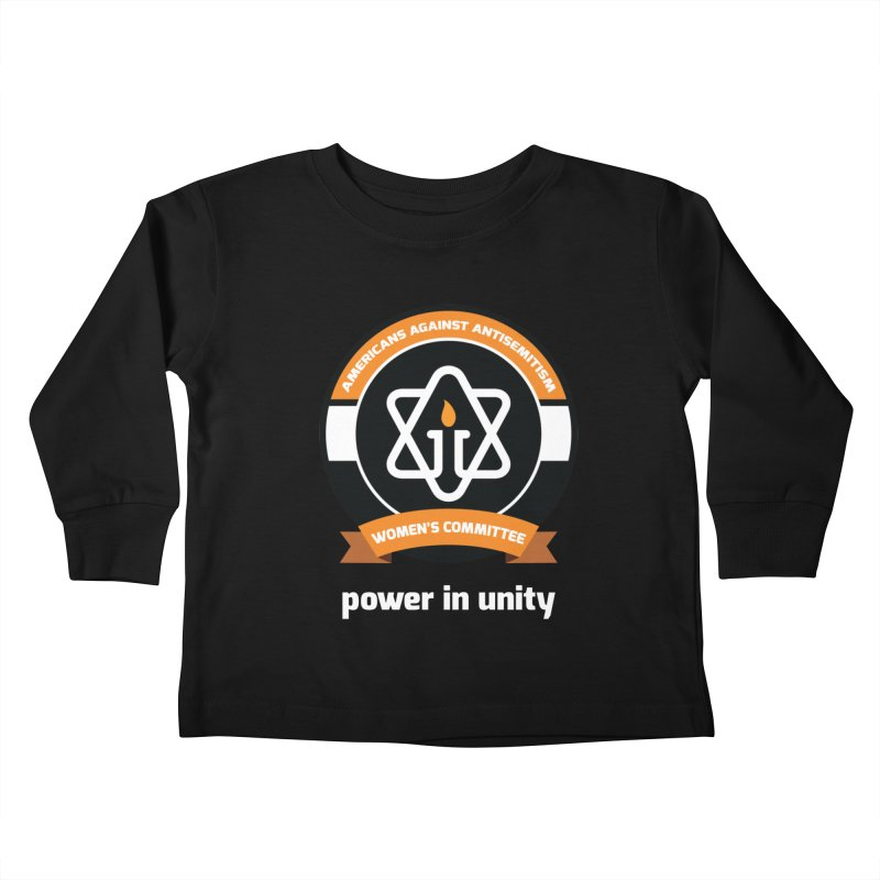 Women's Committee of Americans Against Antisemitism - Dark Background Kids Toddler Longsleeve T-Shirt by Americans Against Antisemitism's Artist Shop