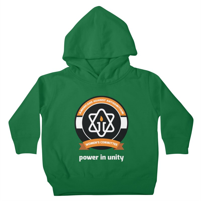 Women's Committee of Americans Against Antisemitism - Dark Background Kids Toddler Pullover Hoody by Americans Against Antisemitism's Artist Shop