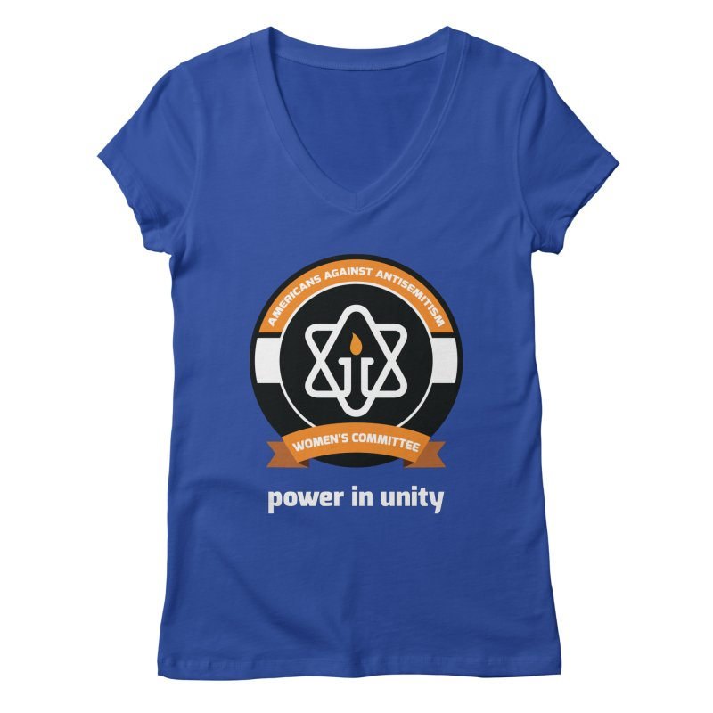 Women's Committee of Americans Against Antisemitism - Dark Background Women's Regular V-Neck by Americans Against Antisemitism's Artist Shop