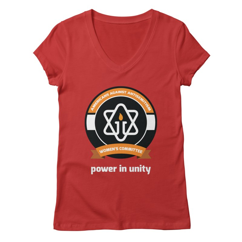 Women's Committee of Americans Against Antisemitism - Dark Background Women's V-Neck by Americans Against Antisemitism's Artist Shop