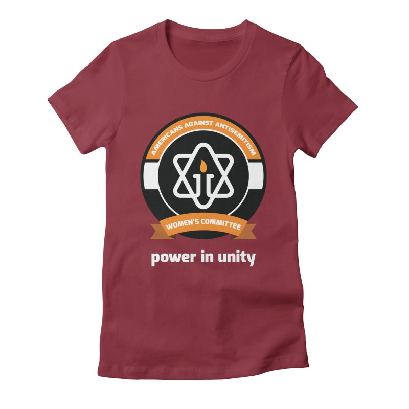 Women's Committee of Americans Against Antisemitism - Dark Background Women's Fitted T-Shirt by Americans Against Antisemitism's Artist Shop