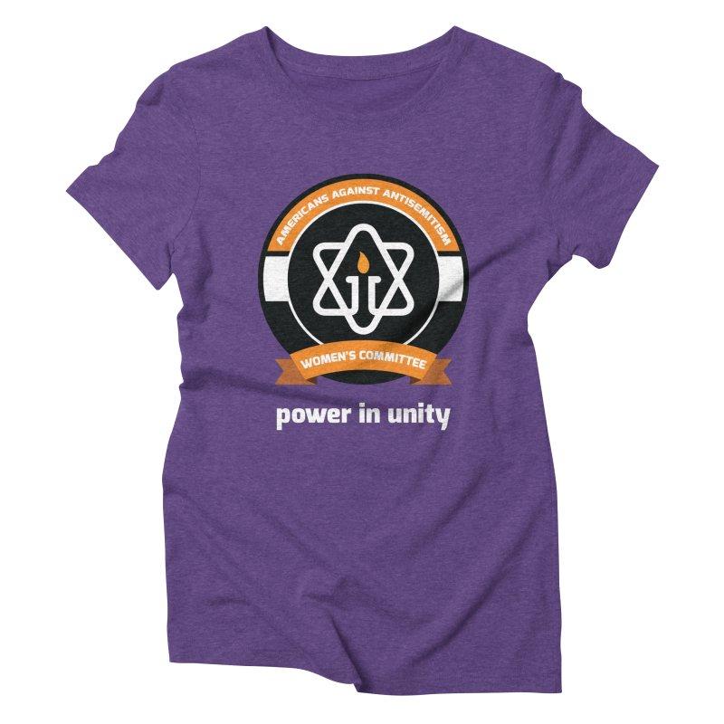 Women's Committee of Americans Against Antisemitism - Dark Background Women's Triblend T-Shirt by Americans Against Antisemitism's Artist Shop