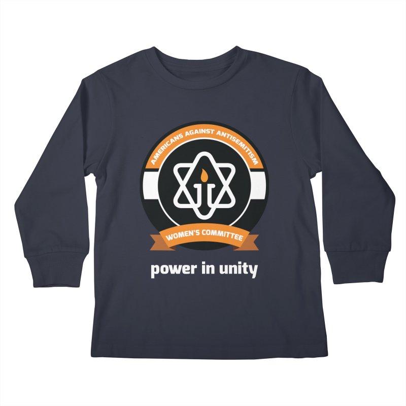 Women's Committee of Americans Against Antisemitism - Dark Background Kids Longsleeve T-Shirt by Americans Against Antisemitism's Artist Shop