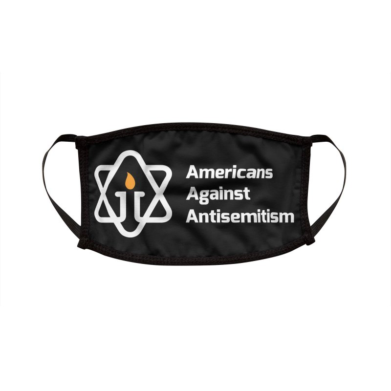 AAA Logo - White on Black Accessories Face Mask by Americans Against Antisemitism's Artist Shop