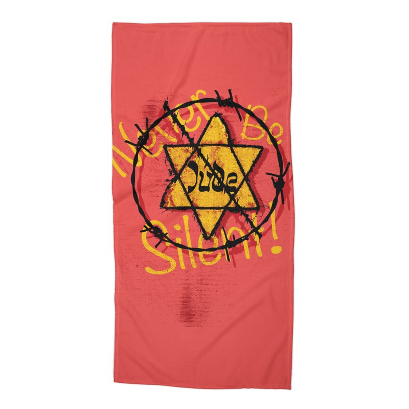 Never Be Silent! Accessories Beach Towel by Americans Against Antisemitism's Artist Shop
