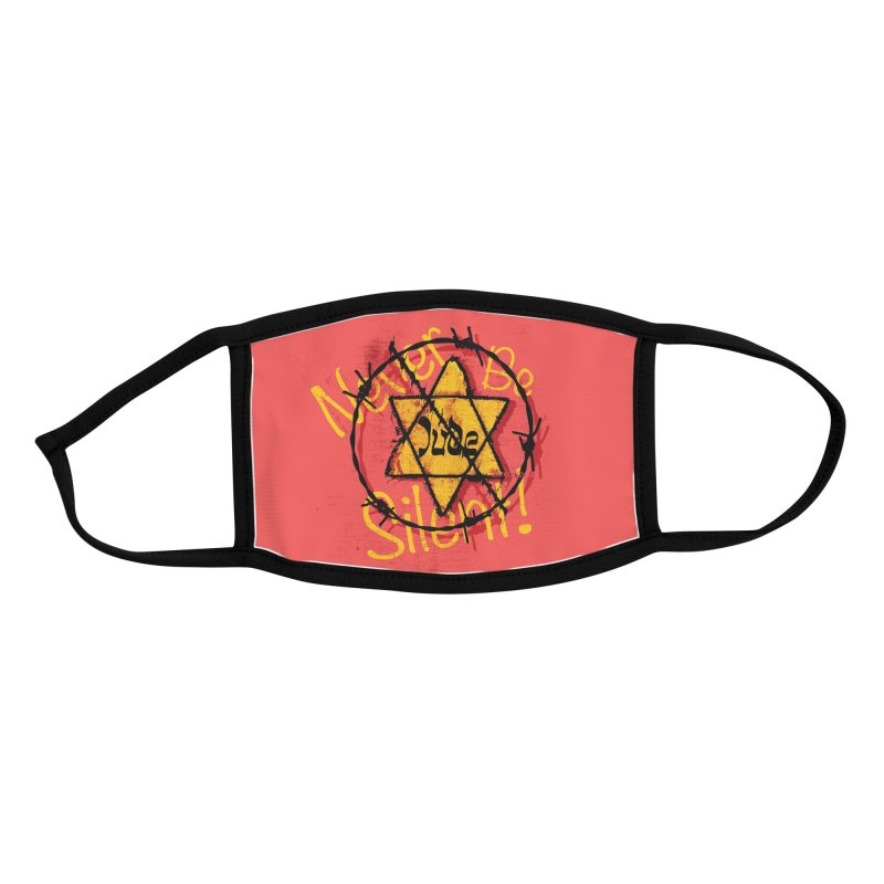 Never Be Silent! Accessories Face Mask by Americans Against Antisemitism's Artist Shop