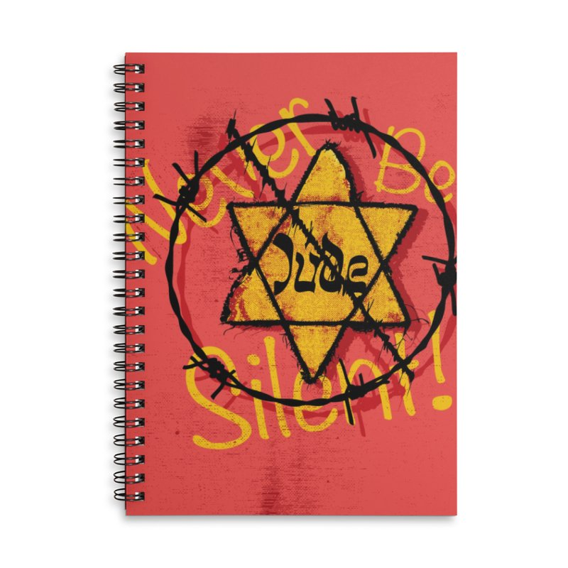 Never Be Silent! Accessories Notebook by Americans Against Antisemitism's Artist Shop