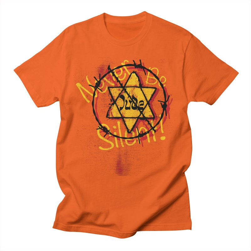 Never Be Silent! Men's T-Shirt by Americans Against Antisemitism's Artist Shop