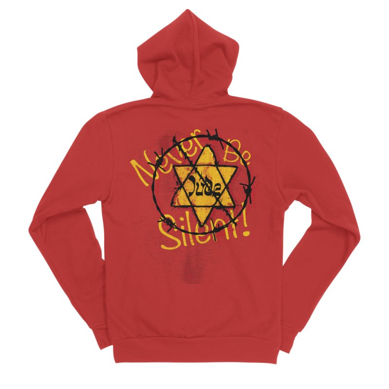 Never Be Silent! Women's Zip-Up Hoody by Americans Against Antisemitism's Artist Shop