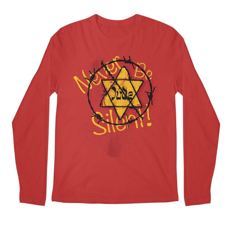 Never Be Silent! Men's Longsleeve T-Shirt by Americans Against Antisemitism's Artist Shop