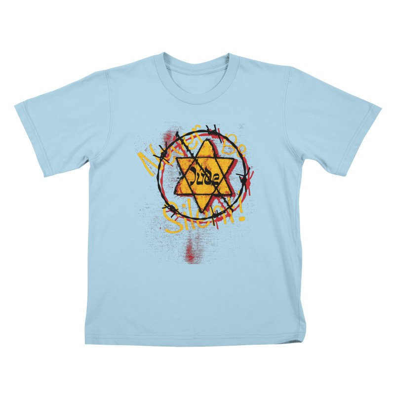 Never Be Silent! Kids T-Shirt by Americans Against Antisemitism's Artist Shop