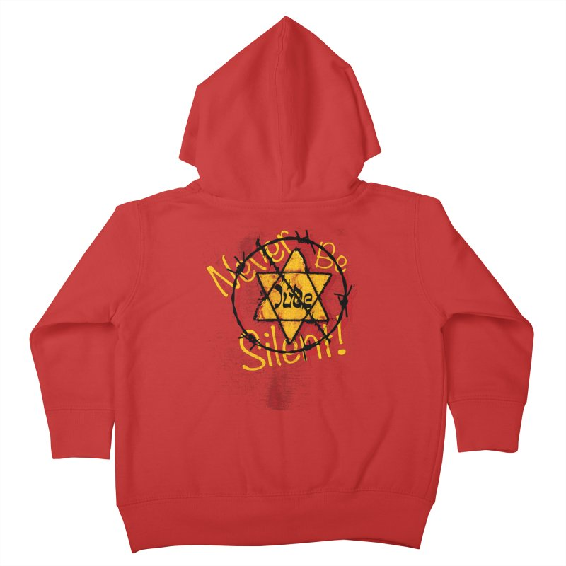 Never Be Silent! Kids Toddler Zip-Up Hoody by Americans Against Antisemitism's Artist Shop