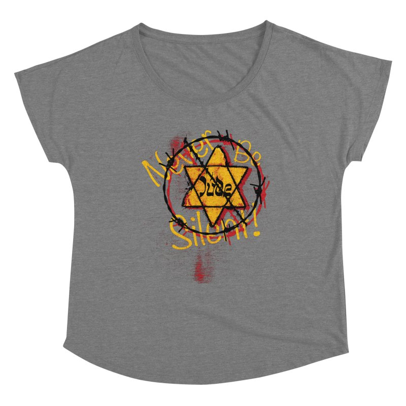 Never Be Silent! Women's Scoop Neck by Americans Against Antisemitism's Artist Shop