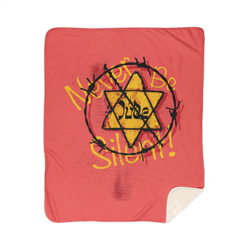 Never Be Silent! Home Blanket by Americans Against Antisemitism's Artist Shop